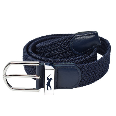 Navy Stretch Webbing Ladies Golf Belt