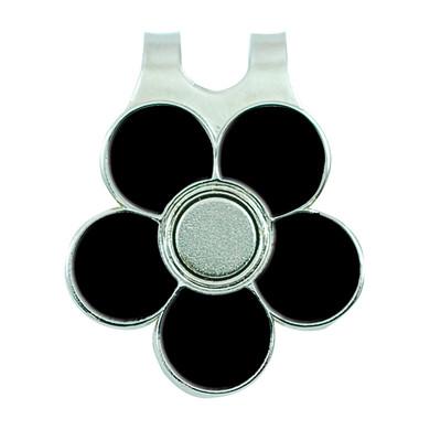 Ladies Golf Flower Visor Clip- Black