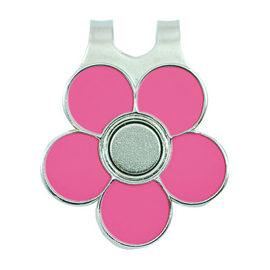 Ladies Golf Flower Visor Clip- Pink