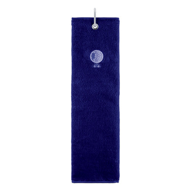 Cotton Trifold Ladies Golf Towel -Navy