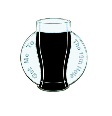 Get me to the 19th Hole Golf Ball Marker (Black)