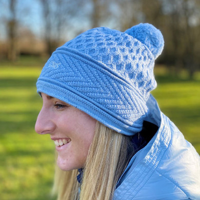 Ladies Golf Daily Sports Gabby Knitted Hat - Dove Blue