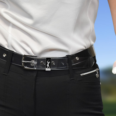 SECOND QUALITY - Ladies Golf Clear Crystal Belt