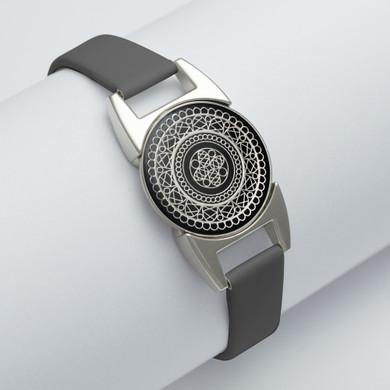 Black Magnetic Bracelet With Golf Ball Marker