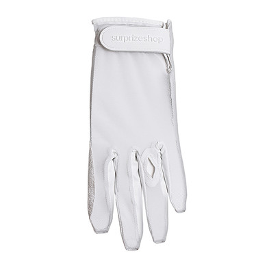 Luxury Cabretta Leather Sun Glove- White