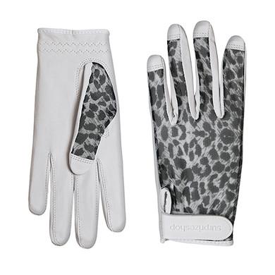 Luxury Cabretta Leather Sun Glove- Cheetah
