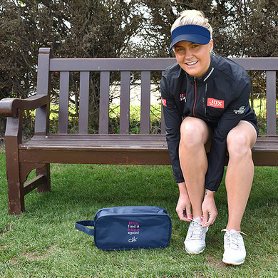 The Charley Hull Collections Golf Shoe bag - Hit It -Blue