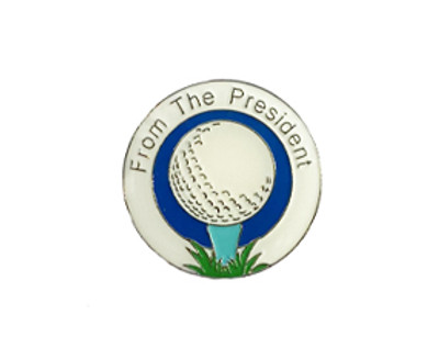 From The President Ladies Golf Ball Marker- Ivory White and Blue