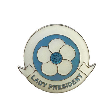 Lady President Blue/Ivory Brooch