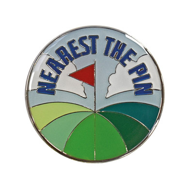 Nearest The Pin Golf Ball Marker Rainbow Green