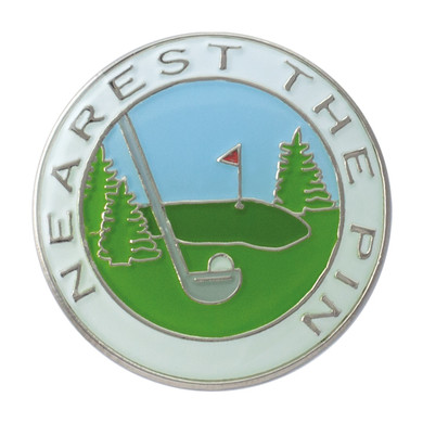 Classic lady Nearest the Pin Ball Marker- White