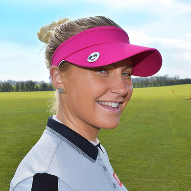 Ladies Golf Charley Hull Official Collection- Golf Visor  - Pink