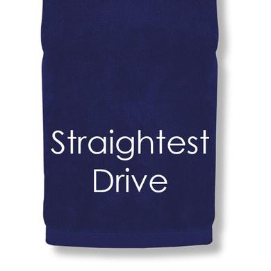 Straightest Drive Tri Fold Golf Towel Prize - Navy