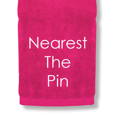 Nearest The Pin Tri Fold Golf Towel Prize - Pink