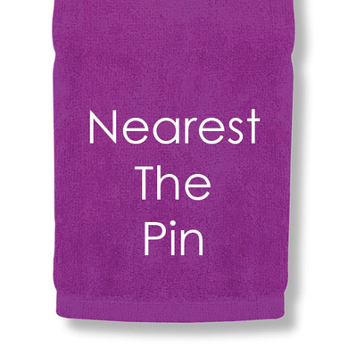 Nearest The Pin Tri Fold Golf Towel Prize - Purple