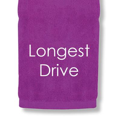 Longest Drive Tri Fold Golf Towel Prize - Purple