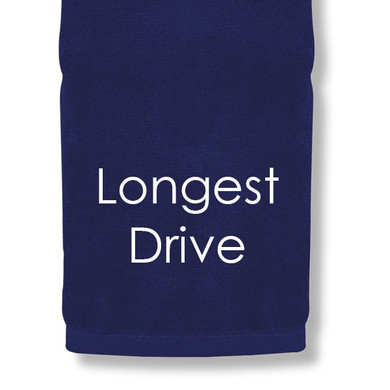 Longest Drive Tri Fold Golf Towel Prize - Navy