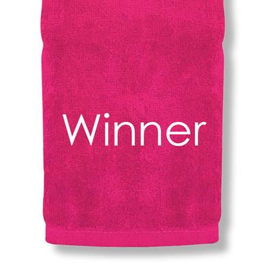 Winner Tri Fold Golf Towel Prize - Pink