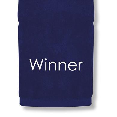 Winner Tri Fold Golf Towel Prize - Navy