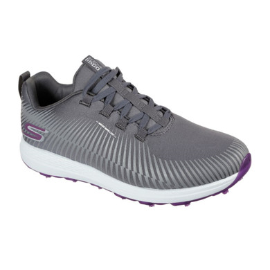 Skechers Ladies Go Golf Max Swing Spikeless Golf Shoes - Grey and Purple
