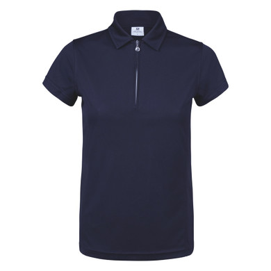 Daily Sports Cap Sleeve Polo Shirt Navy - Front