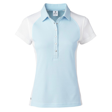 Daily Sports Zenia Cap Sleeve Polo Shirt - Blue Breeze