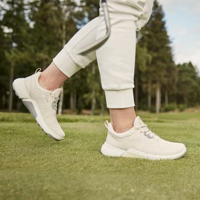Ecco Ladies Biom H4 Waterproof Golf Shoes- Limestone