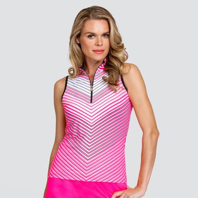 Tail Ladies Golf Fannie Sleeveless Polo - Ombre Chevron