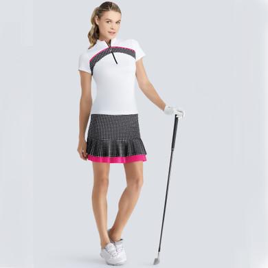 Tail Ladies Golf Pull On Tegan Skort 45 CM- Checkmate
