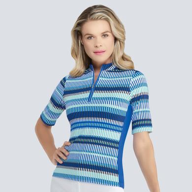 Tail Ladies Golf Isa Half Sleeve Polo - Batik-Admiral Blue