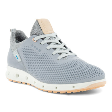 Ecco Ladies Cool Pro Waterproof Spikeless Golf Shoes- Silver and Grey