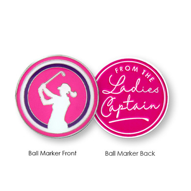 From The Ladies Captain Ball Marker- Pink