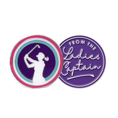 From The Ladies Captain Ball Marker- Purple