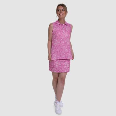 Pure Golf Rise Sleeveless Polo Shirt - Azalea
