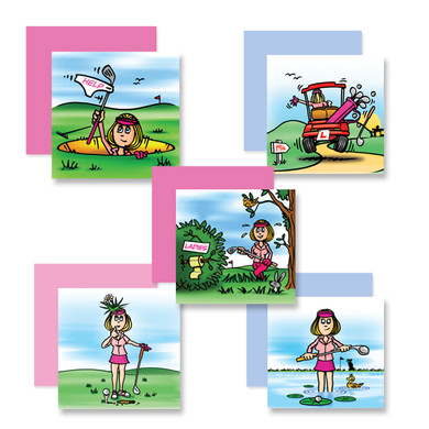 Pack of 10 Golf Themed Fun Cards