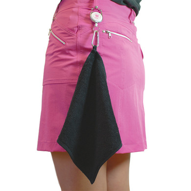Lady Captain's Day Retractable Golf Towel - Pink