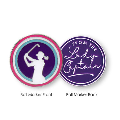 From The Lady Captain  Golf Ball Marker- Purple