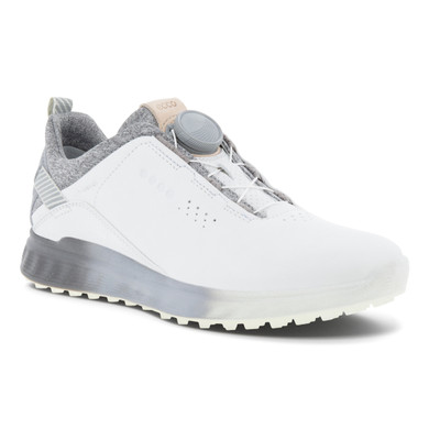 Ecco Ladies S-Three Boa Waterproof Golf Shoes-White