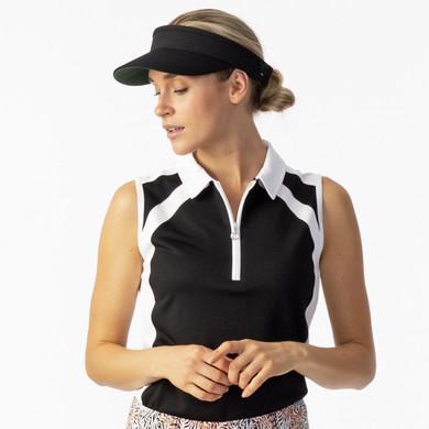 Daily Sports Ladies Roxa Sleeveless Polo - Black