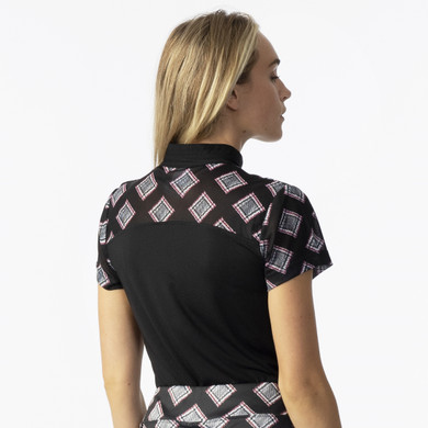Daily Sports Ladies Ruthie Short Sleeve Polo- Black