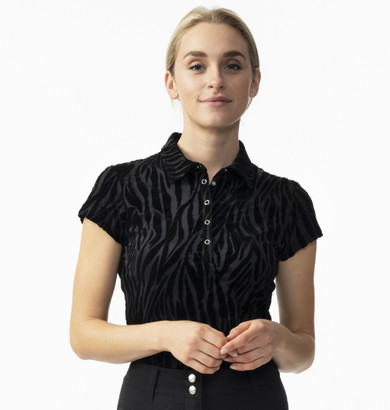 Daily Sports Ladies Blanche Cap Sleeve Polo - Black