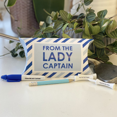 From the Lady Captain Stationary and Tees Set - Blue