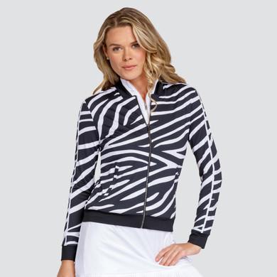 Tail Ladies Golf Alex Long Sleeve Jacket - Wild Zebra