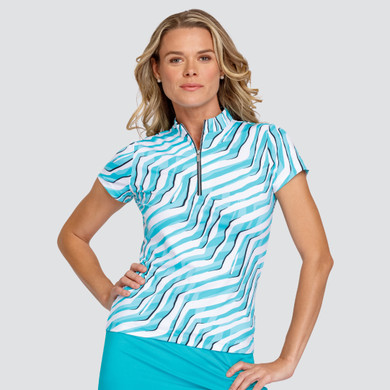 Tail Ladies Golf Michelle Short Sleeve Polo - Zebra Twist