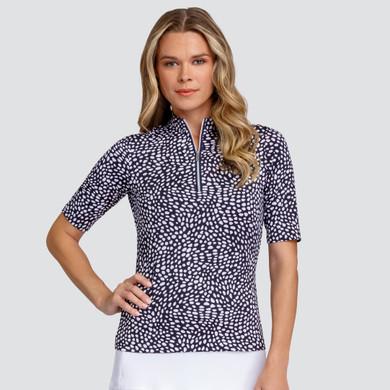 Tail Ladies Golf Ayla Half Sleeve Polo- Dynamic Dot