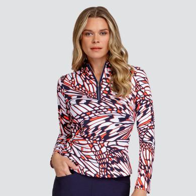 Tail Ladies Golf Wai Long Sleeve 3/4 Zip Polo - Monarch