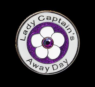 Lady Captain's Away Day Swarovski Crystal Ball Marker- Purple