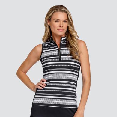 Tail Ladies Golf Cindy Sleeveless Polo - Dash Stripe