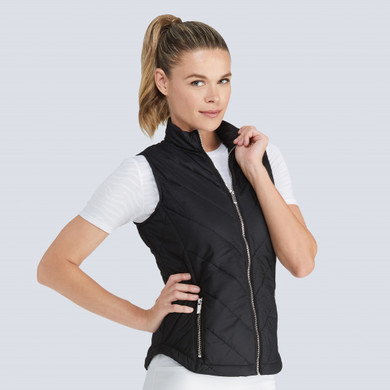 Tail Ladies Golf Sonny Quilted Vest - Black