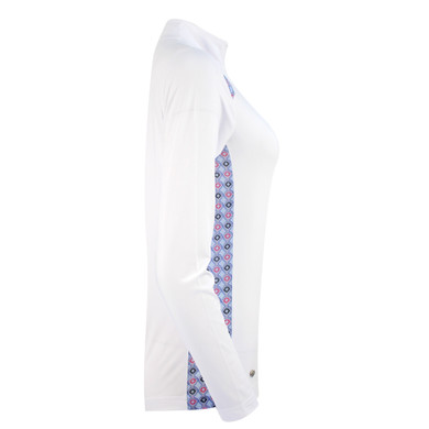 Daily Sports Sue Long Sleeve Polo- White
